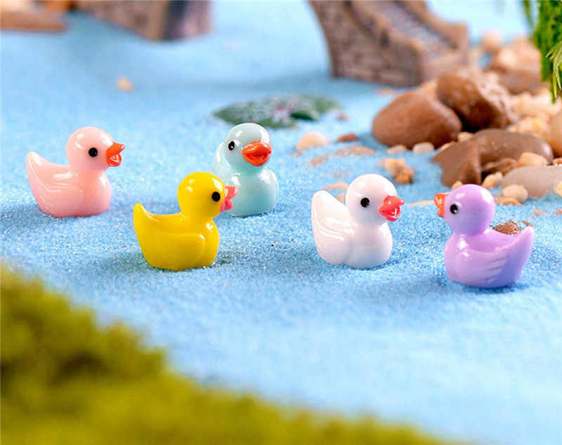 Lovely Resin Plants Duck Cute Micro Landscape Succulent Ornaments Plant Decoration Garden Miniatures DIY Doll decor