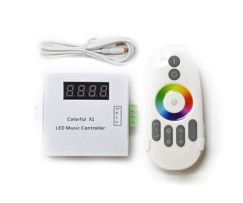 Colorful X1 Music LED Controller with 6 Keys RF Wireless Remote for 6803 IC Magic Dream RGB Color LED Strip Light DC12V/24V 5m dc12v 5050smd 150leds ldp6803 ic magic dream color ip66 silicone waterproof flex led strip 133 programs rf remote controller