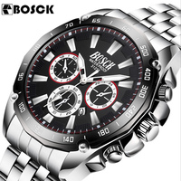 Relogio Masculino BOSCH Brand Deluxe Full Stainless Steel Analogue Date Display Men S Quartz Business Watch