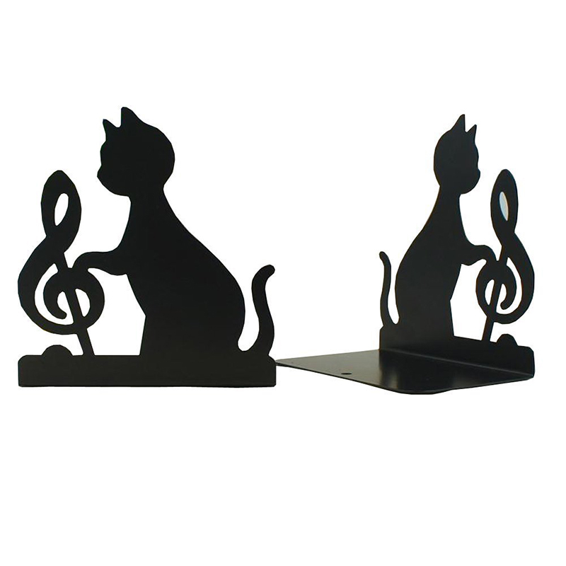 New Book Holder Animal Black Cat Bookends Metal Art Bookend Vintage Decoration 1 Pairs, (Black) Cat Shape ravensburger пазл триптих городской стиль 1500 деталей