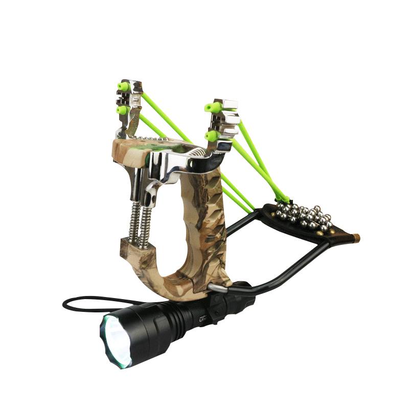 New High Quality Powerful Stainless Steel Slingshot + Flashlight Professional Durable For Hunting Shooting Outdoors new professional high quality  false