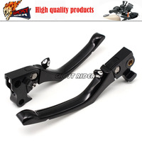 Black Deep Cut CNC Metal Brake Clutch Levers Fits For Harley Sportster XL883 XL1200 Free Shipping