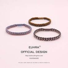 EUHRA 5 Colors Plait Braided Weave Elastic Hair Bands For Women Girls Band Kid Children Rubber