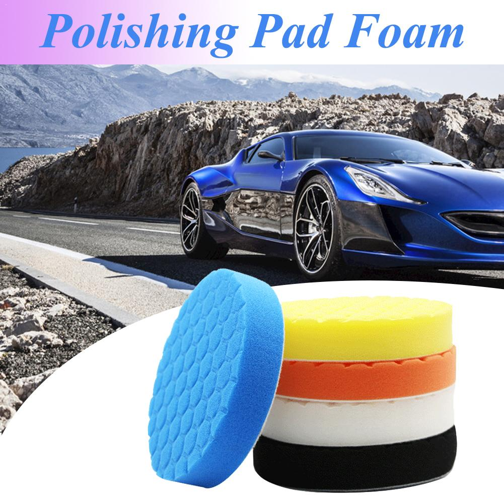 5PCS/Set 3/4/5/6/7 Inch Buffing Polishing Sponge Pad Foam Car Kit For Car Polisher Buffer