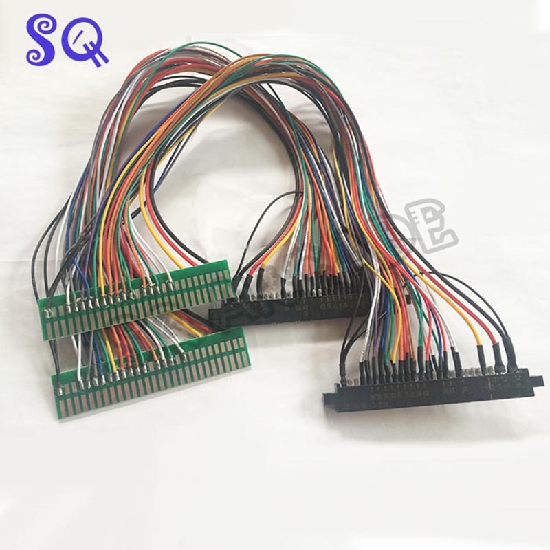 Top Quality 56 Pin 100cm/50cm Jamma Extender Harness For Arcade Game Board JAMMA Cabinet Wire / Wiring Harness Loom Arcade PCB