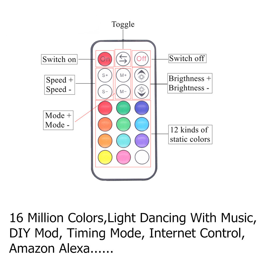 1M 2M 3M 5M 10M 15M Wireless Phone Control WiFi LED Strip Works With Amazon Alexa Google Home IFFFT SMD 5050 12V RGB Tape Ribbon