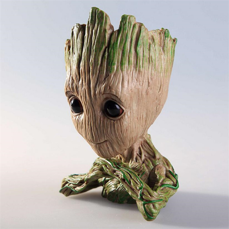 New Avengers Tree Man Baby Guardians of The Galaxy 2 Model Anime Action Figure Dolls Pen Holder Pen Pot And Flower Pot Toys
