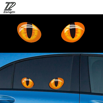 ZD 2X 3D Cat Eyes Auto Stickers Truck Head Rearview Mirror Window for BMW E46 E39 E90 E60 E36 F30 F10 E34 E30 F20 M Mini Cooper image