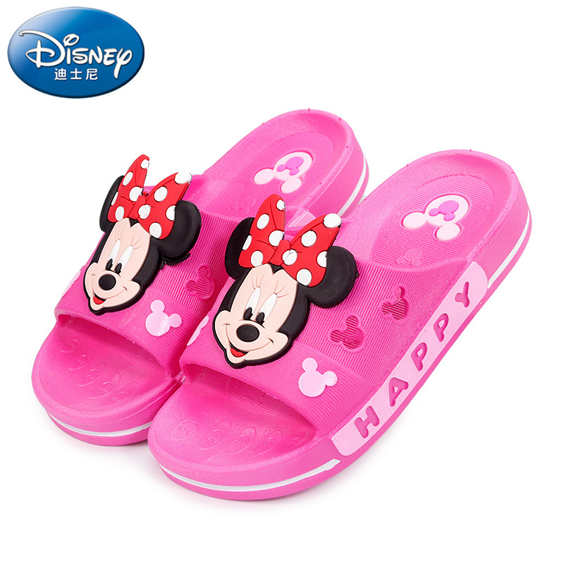 2019 Disney Shoes Baby Slippers Summer Boy Mickey Home Non-slip Sandals Girls Minnie Baby Shoes
