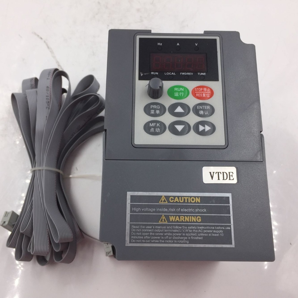 New Universal AC VFD 1.5KW 1Phase 220V VC V/F Control Digital Inverter Frequency Converter Output 400Hz 7A for Spinning Machine vfd110cp43b 21 delta vfd cp2000 vfd inverter frequency converter 11kw 15hp 3ph ac380 480v 600hz fan and water pump