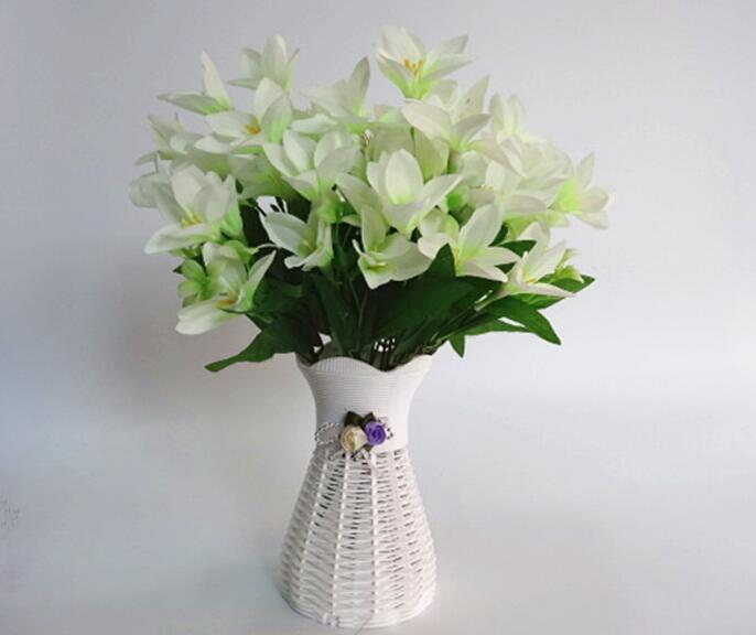 unids blanco rattan cesta de flores florero jarrones de banquete de boda casas garden
