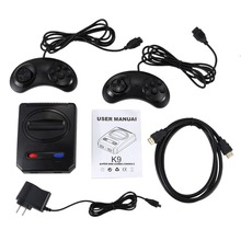 Powkiddy Hd Hdmi 16 Bit Retro Classic Console Video Game For Sega Console Pal/Ntsc Support Extra Cartridges Available 4K Tv the newest snes 16 bit game console ntsc version and pal version