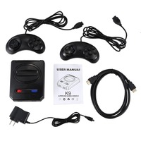 Powkiddy Hd Hdmi 16 Bit Retro Classic Console Video Game For Sega Console Pal/Ntsc Support Extra Cartridges Available 4K Tv