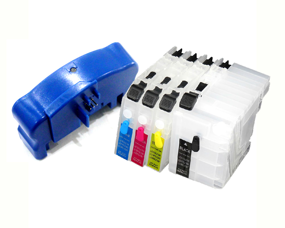 YOTAT 1pcs chip resetter + 1set Empty refill ink cartridge LC239 LC235 for brother MFC-J5320DW MFC-J5720DW