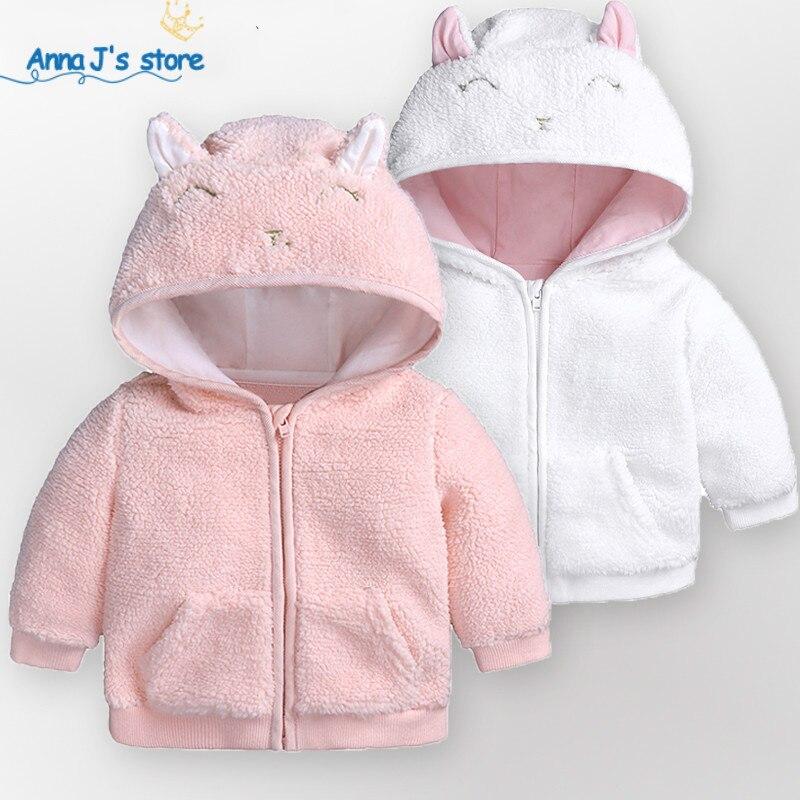 US $8.88 25% OFF|ZX361 2019 wiosna jesień noworodek Boys Baby dziewczyna Cartoon ucha bluza z kapturem topy ciepłe ubrania płaszcz maluch chłopcy