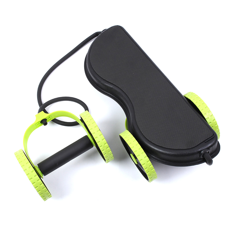 AB Wheels Roller Stretch Elastic Abdominal Resistance Pull Rope Tool AB roller for Abdominal muscle trainer exercise 6