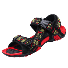Shoes Men Summer Sports Sandals Outdoor Genuine Leather England Style Hollow Male Cow