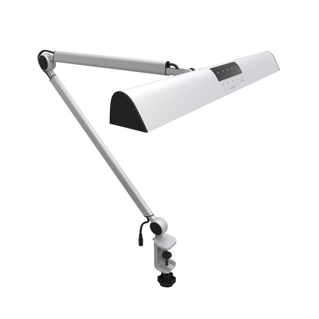 Awesome A509 LED Swing Arm Architect Desk Lamp Clamp, Touch Table Lamp For Reading  Working Silver