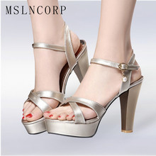 Plus Size 34-43 platform high heel sandals women sexy Elegant footwear fashion lady Cross tied Peep Toe party summer Pumps shoes цены онлайн