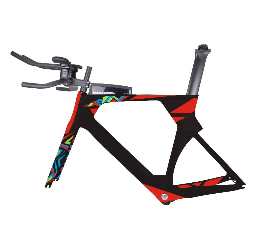 MIRACLE Aero triathlon bikes Colorful painting 49/52/54/56cm Chinese Carbon tt frame 700c Carbon time trial frame цена