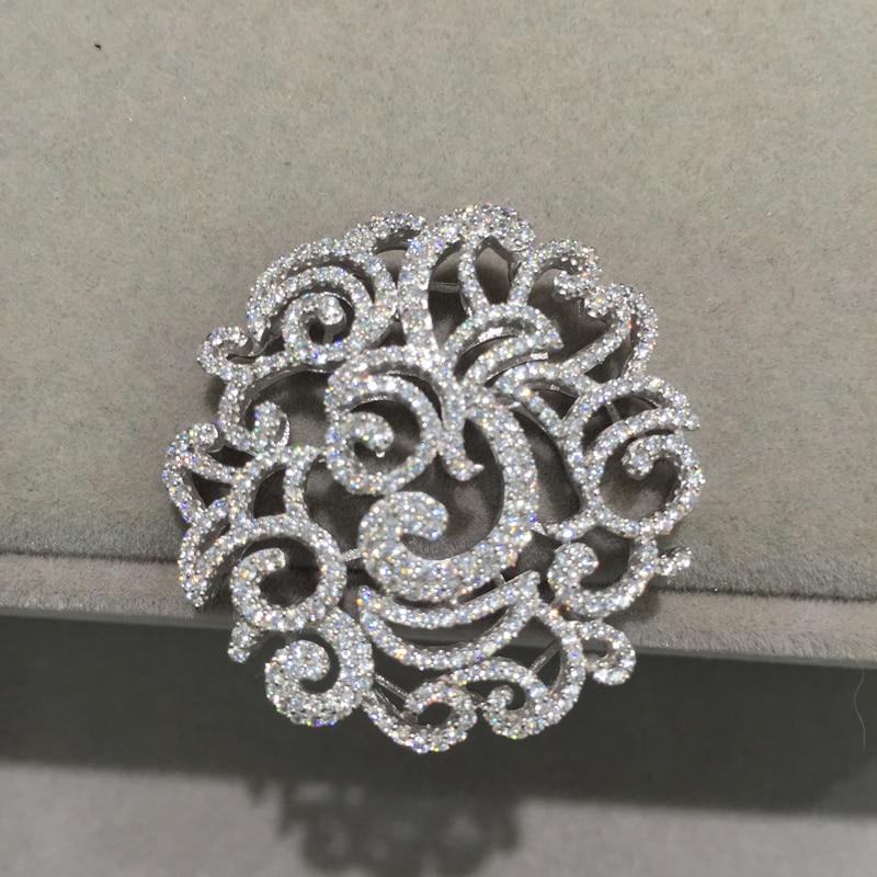 Antiguo Colgante de Pavo Real diamante de imitación de aleación de plata 84 X 65mm Accesorios Crafts
