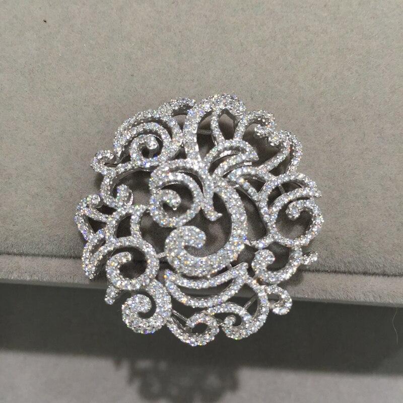Top qualité 925 argent avec zircon cubique bijoux résultats composants connecteurs pour collier mode femmes bijoux