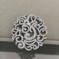 Top quality 925 silver with cubic zircon Jewelry Findings components connectors For necklace Fashion women jewelry