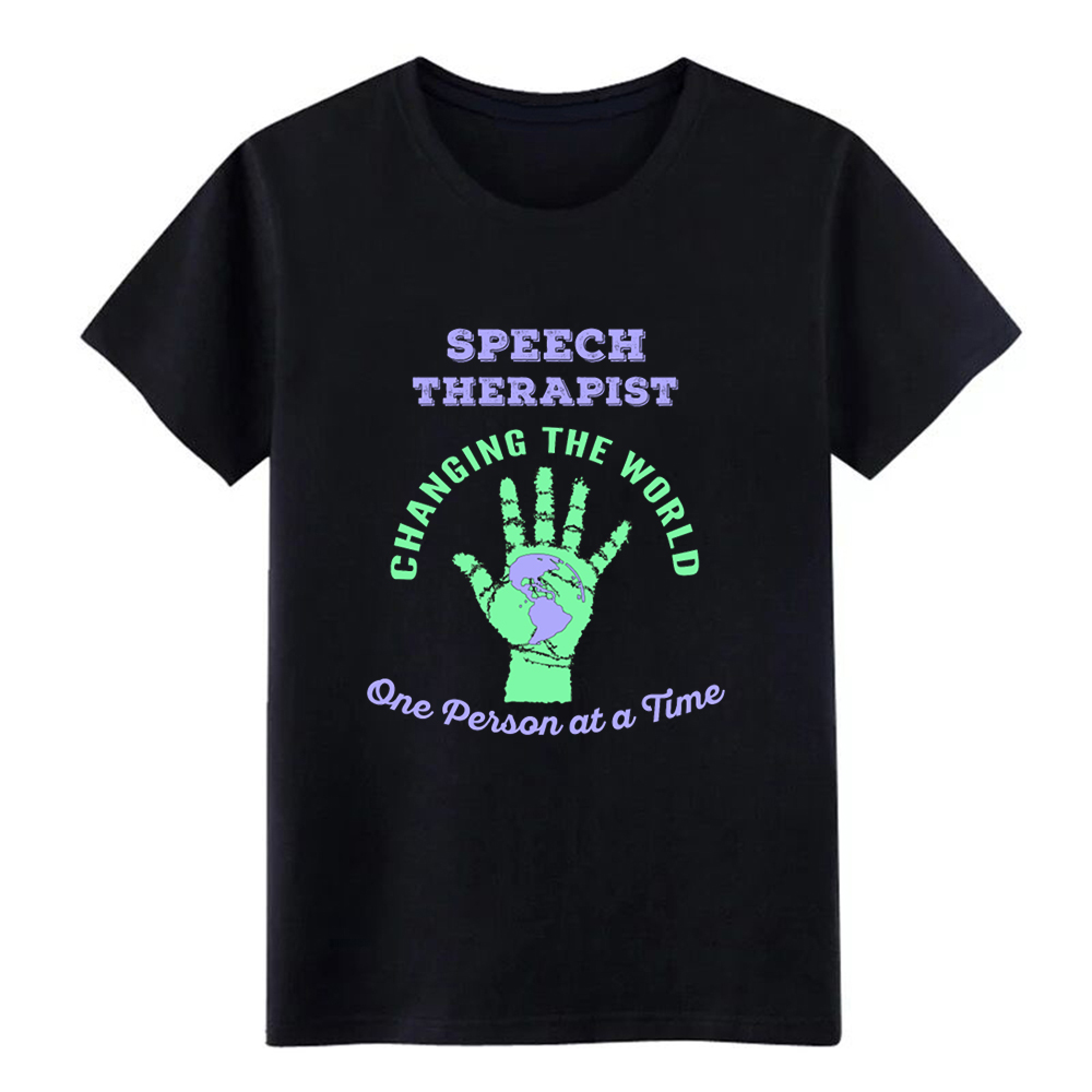 Men's Speech Therapist Changing the World ST Therapy t shirt Design Short Sleeve size S-3xl Normal Gift New Fashion Spring shirt image