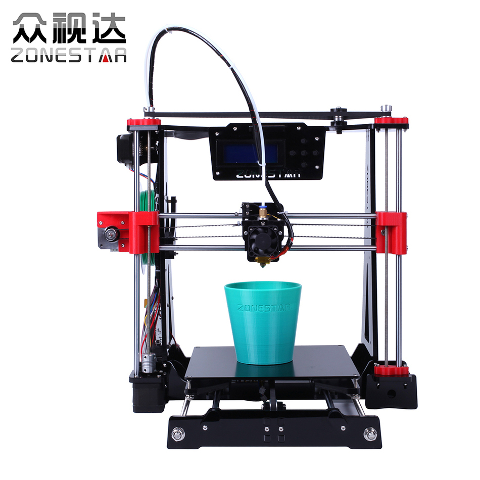Newest Arrival High Precision Easy Leveling Acrylic Frame Reprap Prusa i3 3D printer DIY kit LCD Bowden Extruder Free Shipping