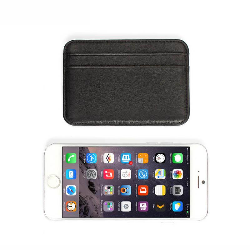 New 100% Sheepskin Genuine Leather Credit Card Case Mini ID Card Holder Small Purse For Man Slim Men's Wallet Cardholder