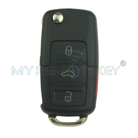 1J0 959 753 T 315 Mhz 4 Przycisk Zdalnego Klucza HU66 dla VW Bora Jetta Golf Passat Skoda Seat 1999 2000 2001 Remtekey