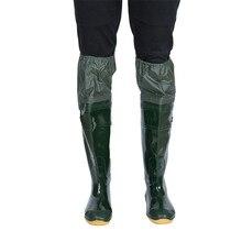 Unisex Lightweight PVC Fishing Waders Boots 360% Rotated Soft Sole Fishing Waders Boot Elastic Belt Overknee PVC Fishing Waders