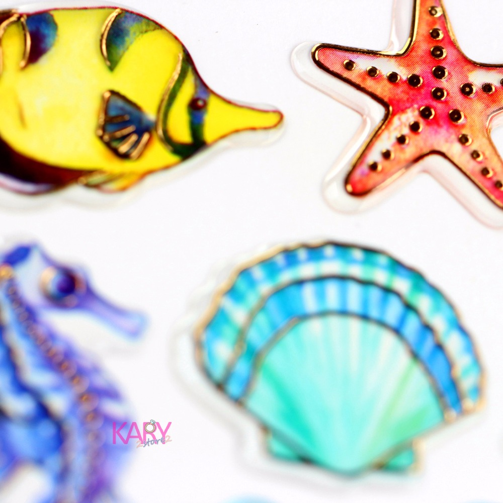 Seabed Creatures Coral Reefs Tropical Fish Shells Glitter Shiny Gilded Crystal Scrapbooking Stickers Toys For DIY Stationery -02Seabed Creatures Coral Reefs Tropical Fish Shells Glitter Shiny Gilded Crystal Scrapbooking Stickers Toys For DIY Stationery -02