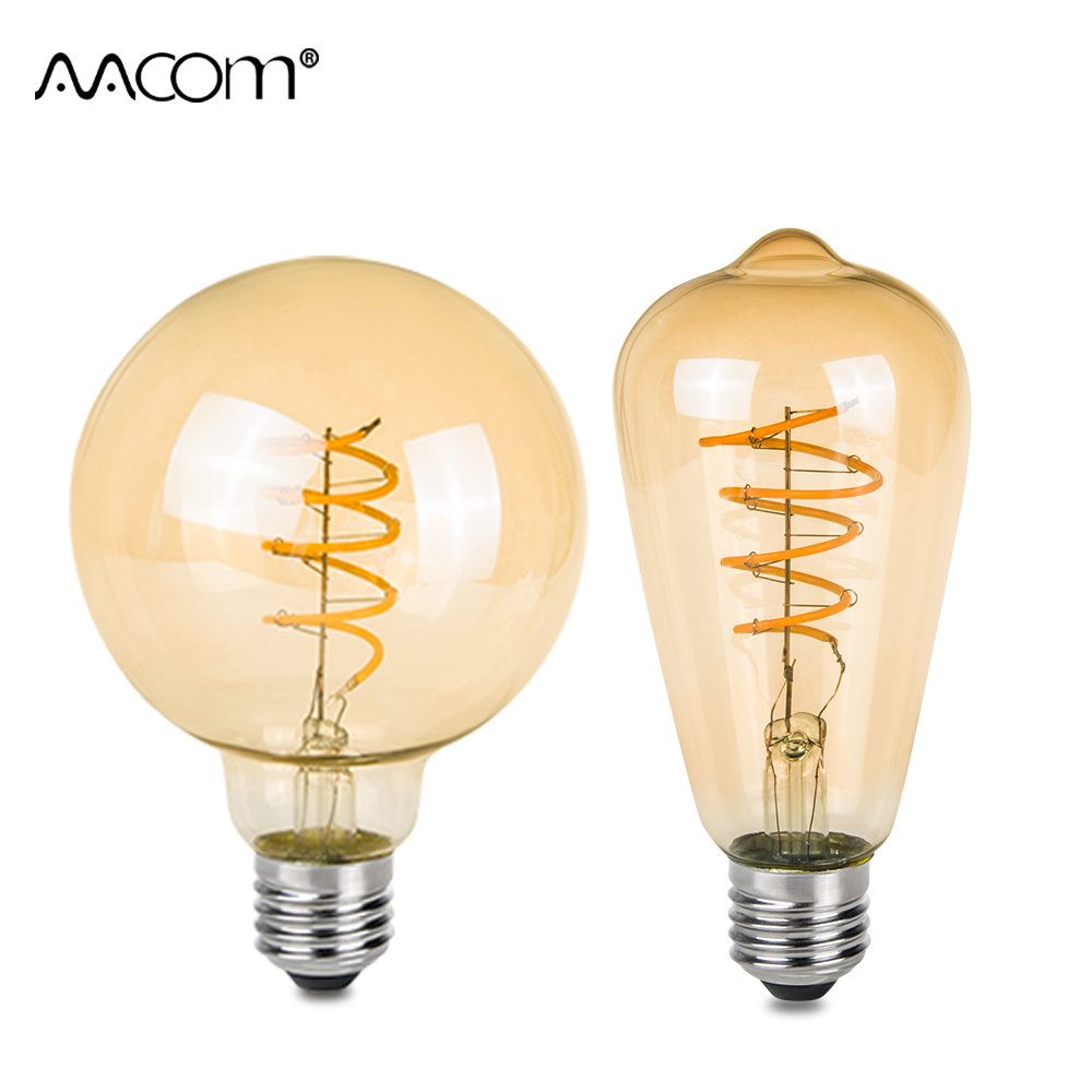 3W E27 LED Vintage Antique Retro Bulbs Ampoule LED Retro Filament Lamp Edison Bulb Light A60 ST64 G80 G95 85-265V 220V e27 led 8w white warm white cob led filament retro edison led bulbs 85 265v