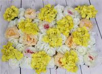 SPR Geel serie kunstmatige rose bruiloft bloem muur achtergrond road lood bloem tafel middelpunt bloem bal voor party markt