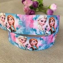 Новое прибытие 1 ''(25 мм) принцесса печатные корсажные ленты герои мультфильмов ленты аксессуары для волос 5 ярдов