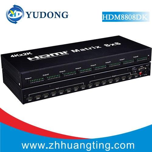 Качество 8x8 HDMI матричный коммутатор 8 в 8 из HDMI 1.4b сплиттер 4 К HDMI матричный коммутатор с rs-232 Поддержка hdcp1.4