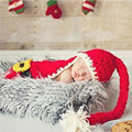 Children Wool Blend Knitting Hat Christmas Hat Baby Christmas Photography Props