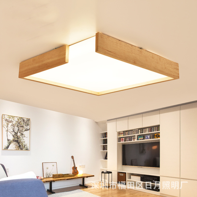 Modern LED Wooden Ceiling Lights For Living Room Foyer Lamparas de techo Japan Lighting Fixtures For Bedroom Kitchen