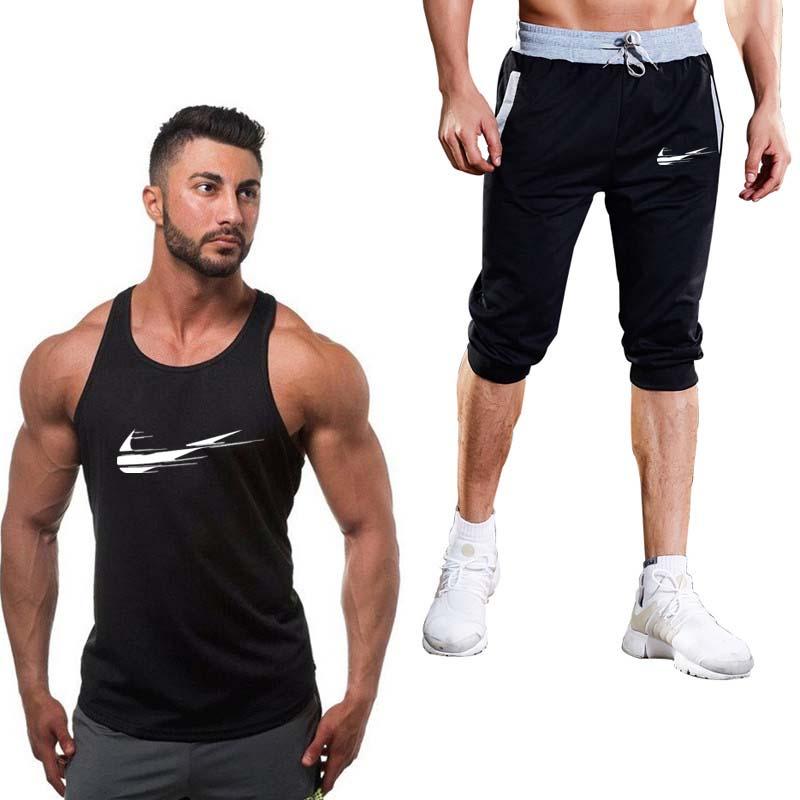 2018 fashion Golds gyms Brand singlet canotte bodybuilding stringer   tank     top   men fitness vest muscle guys sleeveless vest