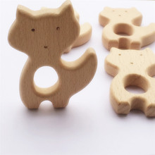 5pcs Wooden Teether Nature Baby Rattle Teething Grasping Toy DIY Organic Eco-friendly Wood Accessories