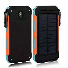 Solar Power Bank 20000mah Waterproof External Battery Backup Powerbank 20000 Mah Phone Battery Charger Led Pover Bank