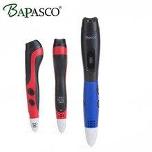 Original Bapasco 06B 3D Printing Pen LED Screen 3D Pen EU Plug Pen 3D Model Crafting Model Stereoscopic Arts Tool For Kids Gifts