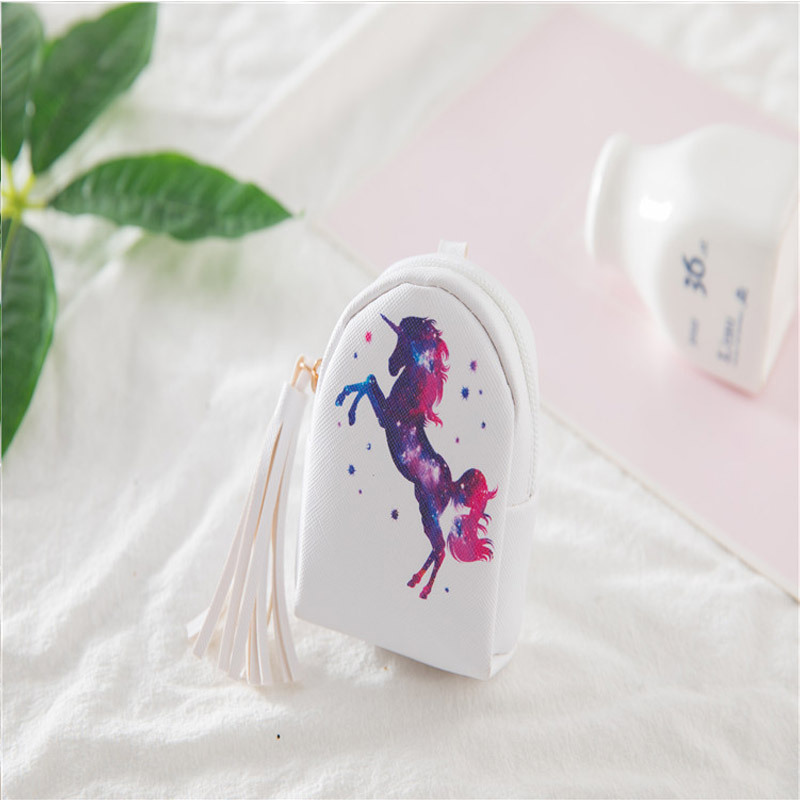 Monederos Para Mujer Monedas Monedero 3d Cartoon Cute Little Kids Women 39 s Purse Coin Wallet Money Bag Unicorn Pouch Key Holder in Coin Purses from Luggage amp Bags
