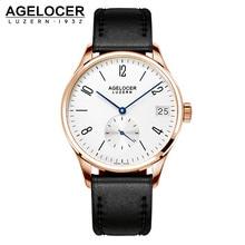 AGELCOER Antique Watch Wristwatch Men 2017 Top Brand Luxury Famous Male Clock Gold Dive 50m Waterproof