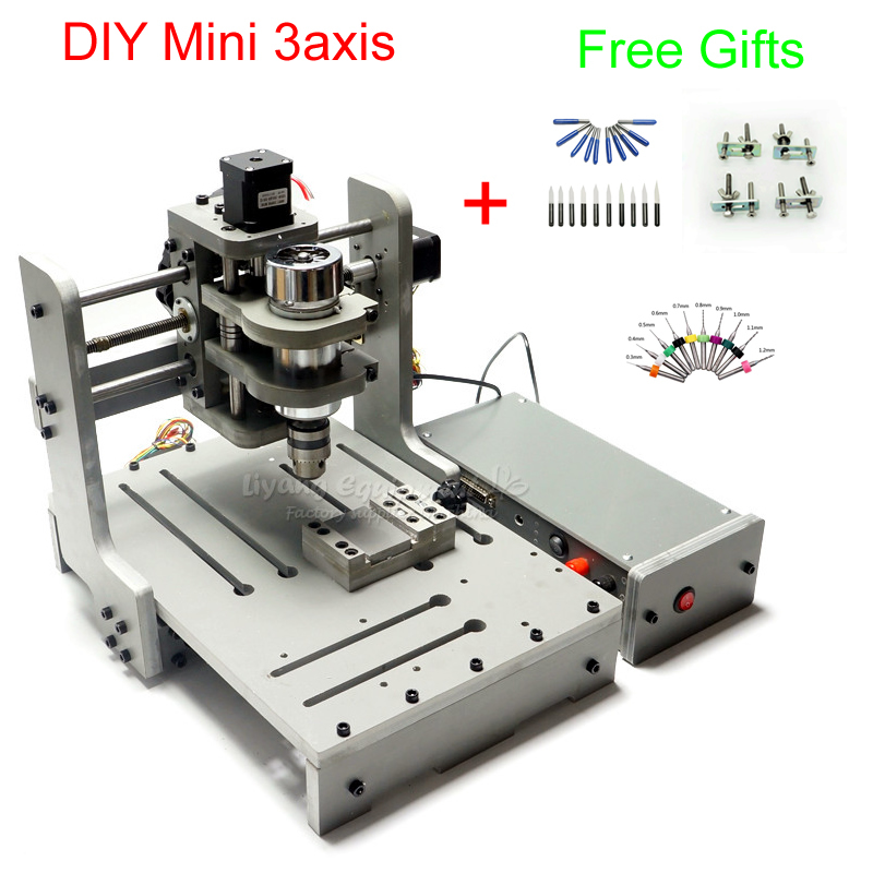 DIY 3 Axis CNC Milling Machine 300W Spindle Wood Carving Router Machine With USB Port, Russia Free Tax