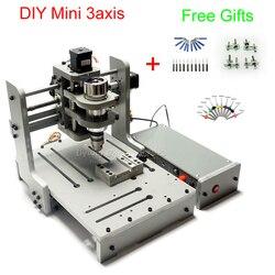 DIY 3 ejes fresadora CNC 300W husillo de madera, máquina enrutadora con puerto USB, Rusia Libre de impuestos