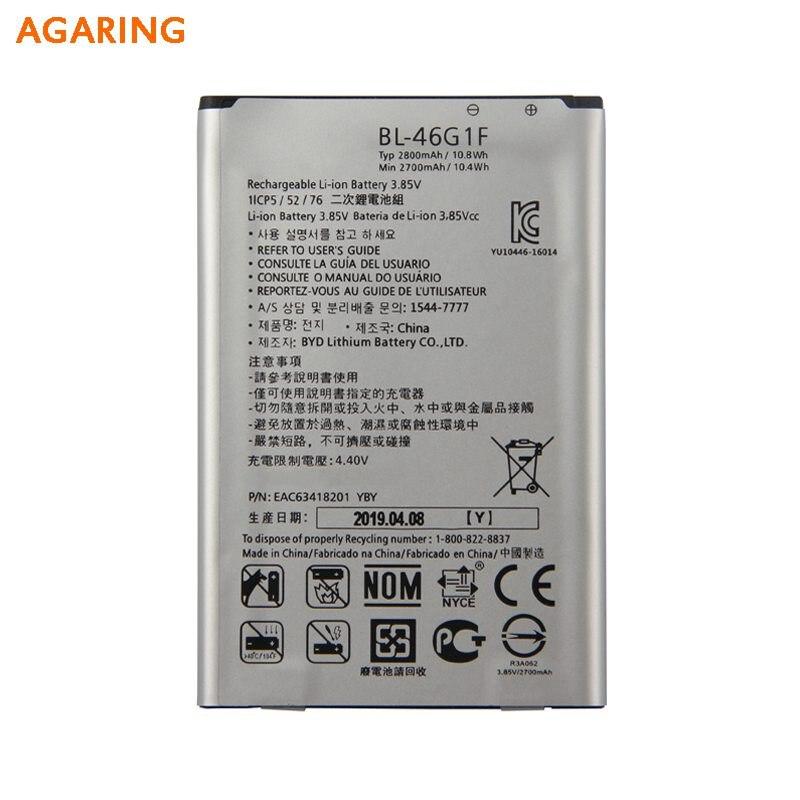 BL-46G1F Bateria de Substituição Original Para LG 2017 Versão K10 LG BL-46G1F BL46G1F Autêntico Baterias de Telefone 2800 mAh