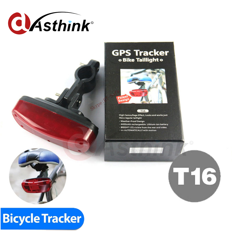 T16 China Best Waterproof Tail Lamp Bicycle GPS Tracker 120 Days Real Time Tracking SMS Locating