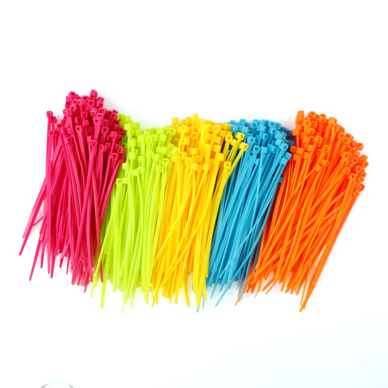 100Pcs/Pack Resueful Colorful Practical Mixed Color Plastic Cable Ties Strap 102mm X 2mm Zip Tie Cable Wire Tidy  #64765